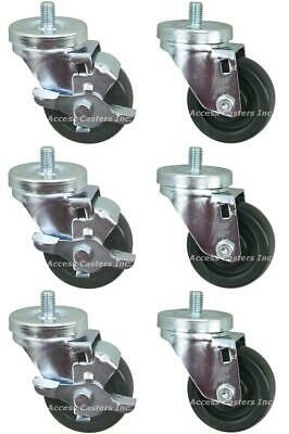 AC-885023 3 Inch set of 6 casters for True