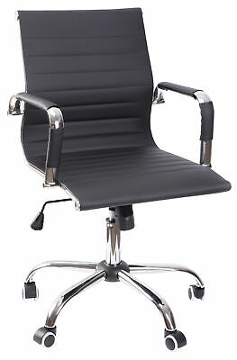 New Modern Leather Swivel Office Chair with Adjustable Height and Casters