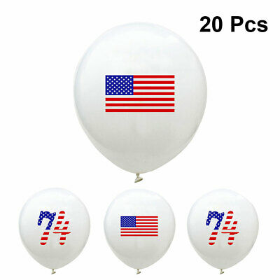 20pcs Latex Beautiful Decor Number Independence Day Balloon for Gathering Party