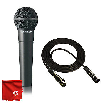 Behringer XM8500 Dynamic Microphone Bundle with Pro 10' XLR Cable