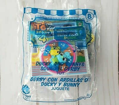 Mcdonald's Toy Story 4 #8 Ducky & Bunny Squirrel Derby New Sealed Happy Meal Toy
