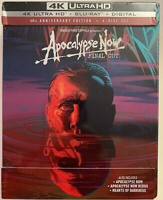 Apocalypse Now Final Cut 4K Ultra Hd Blu Ray 6 Disc Set Digipack 40Th Anniversry