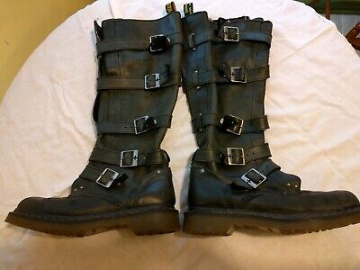 50% price speical offer classic styles DR DOC MARTENS Phina Buckle Tall Knee High Boots Black ...