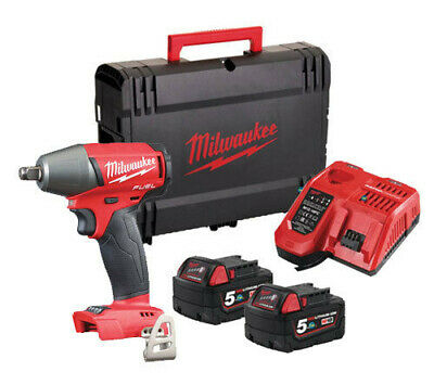 Milwaukee M18FIWF12-502X 18v Friction Ring Impact Wrench  Two x 5.0Ah Batteries