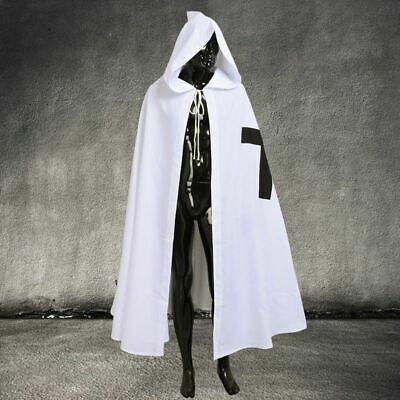 Middle Ages Medieval Knight Crusader Hooded Cloak Cape Tunic Surcoat
