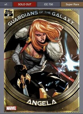 TOPPS MARVEL COLLECT GUARDIANS OF THE GALAXY 2ND PRINTING Angela