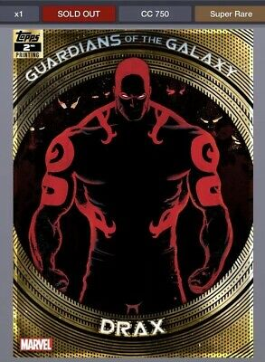TOPPS MARVEL COLLECT GUARDIANS OF THE GALAXY 2ND PRINTING Drax