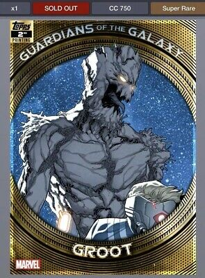 TOPPS MARVEL COLLECT GUARDIANS OF THE GALAXY 2ND PRINTING Groot