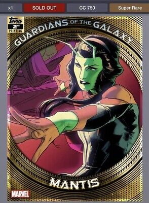 TOPPS MARVEL COLLECT GUARDIANS OF THE GALAXY 2ND PRINTING Mantis
