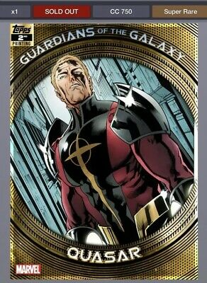 TOPPS MARVEL COLLECT GUARDIANS OF THE GALAXY 2ND PRINTING Quasar