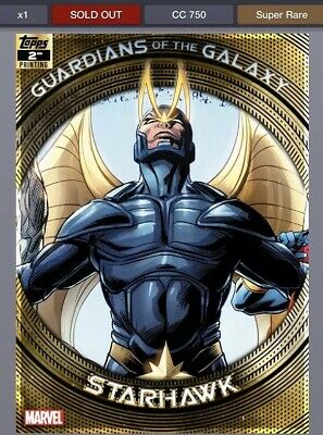 TOPPS MARVEL COLLECT GUARDIANS OF THE GALAXY 2ND PRINTING Starhawk