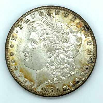 Collector's Toned Unique Morgan Silver Dollar 1883 Philadelphia - S6