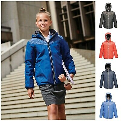 Childrens Regatta Waterproof Reflective School Coat Jacket Warm Boys Girls Kids