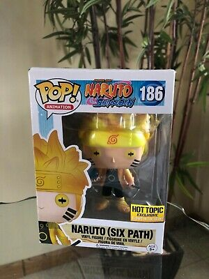 RARE NARUTO SIX PATH FUNKO POP #186 **!GLOWS IN THE DARK!** Hot Topic Exclusive