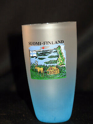 """Suomi-Finland 3 1/4"""" Frosted Shot Glass"""