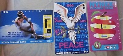 Group of  3 Nynex Change Cards made in 1994
