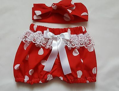 Beautiful Summer Polkadots Baby's Bloomer and headwrap set girls clothes New