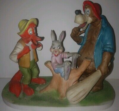 Walt Disney Productions Song Of The South BRER RABBIT BEAR FOX Statue RARE Japan