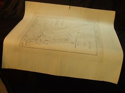 "1901 Providence, R. I. Harbor 16"" By 19"" U.s. Geodetic Survey Nautical Map"