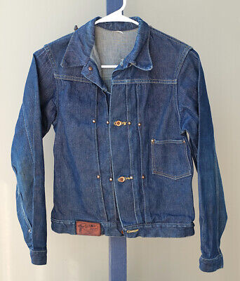 1950s Vintage Jean Denim Jacket Roy Rogers Rider Coat Embroidered Horses Ex Cond