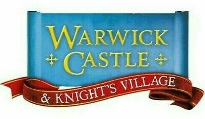 2 x WARWICK CASTLE E-TICKETS THURSDAY 31ST OCTOBER 2019 HALLOWEEN OPEN TIL 9PM