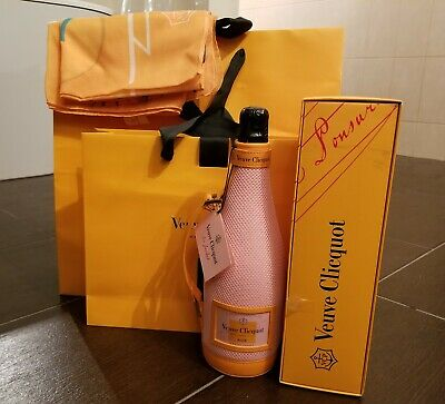 "Veuve Clicquot New Promotional Scarf 51""x51"" with 2 Yellow Bags &  Champagne Box"