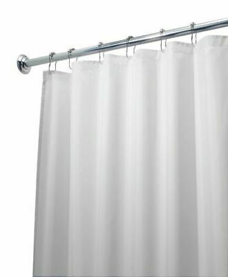 """SOLID 70"""" x 72"""" BATHROOM SHOWER CURTAIN PLASTIC MAGNETIC LINER WHITE"""