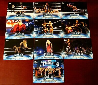 2019 Topps WWE Women's Division SP Evolution Insert (10-Card) Complete Set!