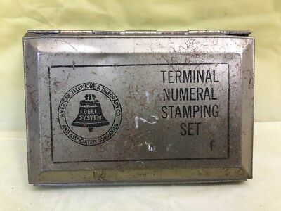 Vintage Anerican Telephone Bell System~TERMINAL NUMERAL STAMPING SET