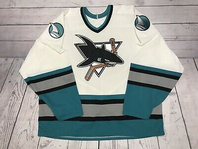 wholesale dealer 5bf94 b5e1e VINTAGE SAN JOSE Sharks Hockey Jersey Mens Xl Large 90s Ccm Vtg Embroidered  NHL