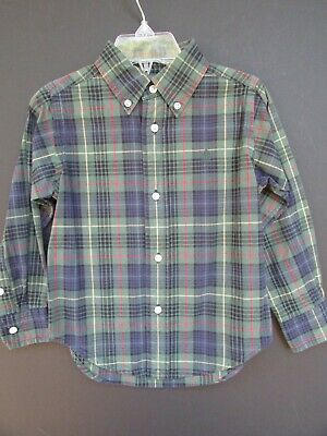 Ralph Lauren Polo Little Boy Button Down Plaid  Shirt Size 2 / 2T   EUC