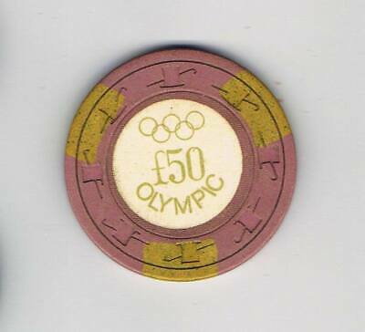 Vintage Olympic 50L Casino Chip - London England - Rare Vintage Chip !!!!