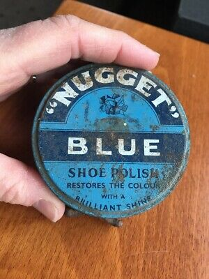 Vintage Collectable Nugget Blue Boot Polish Tin