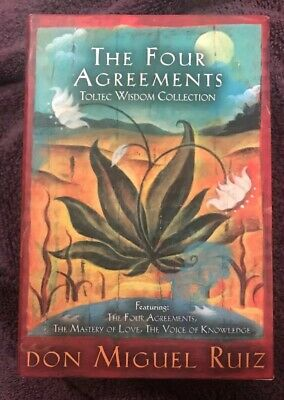 The Four Agreements Toltec Wisdom Collection 3-Book Boxed Set in Slip Case Pbk