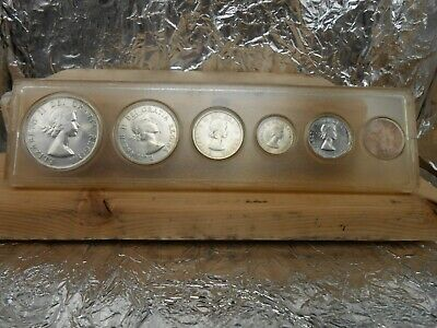 1953 Canadian silver 6 coin year set