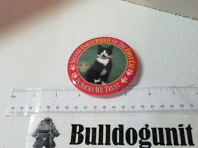 Socks The First Cat Campaign Button Pin Clinton We Trust Inauguration