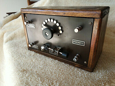 Vintage Homemade Crystal Radio, Tested and Functional