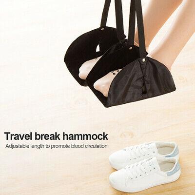 Adjustable Foot Comfy Hanger Footrest Hammock Relieving Fatigue Travel Airplane