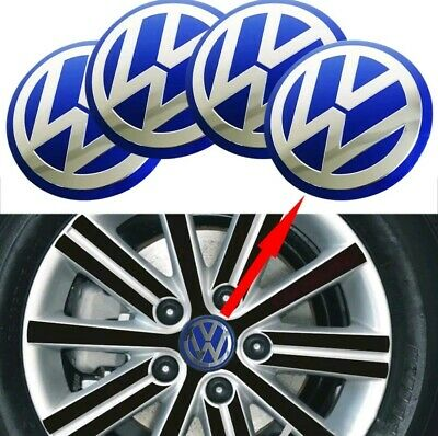4ps Center CAP Stickers Blue Alloy Wheel For All Model sz 9.0cm 90mm