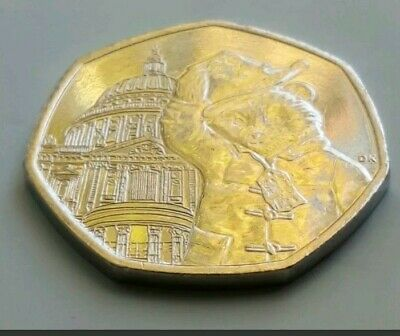 New 2019 UK Paddington Bear at St Pauls Cathedral 50p Coin From Sealed Bag
