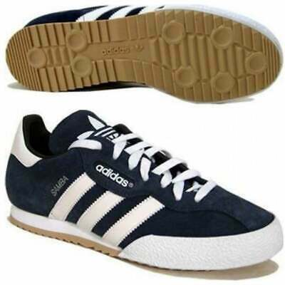Adidas Samba Super Suede Navy / White (Z20) 019332 Mens Trainers in All Sizes