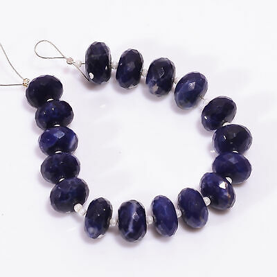 71.45 Ct. Natural Sodalite Gemstone Rondelle Shape Faceted Loose Beads Strand 5""