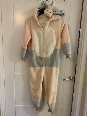 Girls Next Unicorn Fleece One Piece Nightsuit Size 7 Years
