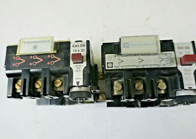 Telemecanique Thermal Overload Relay 14-20A Type AM 20 (RA1-DB) LOT of 2