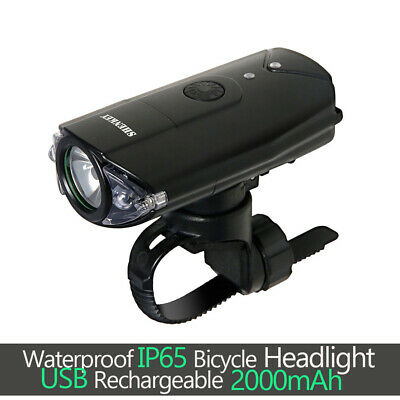 Bicycle Headlight 1200 Lumens Cree L2 LED USB Rechargeable Front Bike Head Light