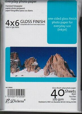 2 X Pochettes papier photo finish brillant 4X6 - 100x150 mm - Dickens