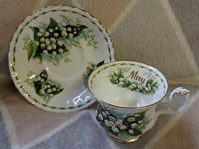 Royal Albert Flower of The Month May - Lily of the Valley - Cup and Saucer