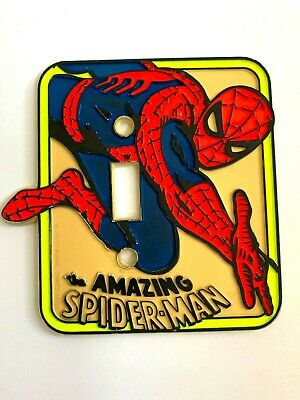 The Amazing Spiderman Light Switch Cover Wall Plate Vintage Marvel Comics