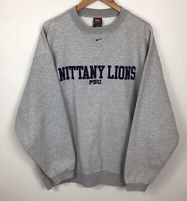 00's Team Nike PSU Nittany lions Crewneck Sweater Size Large Collegiate