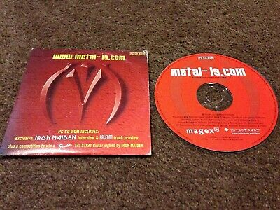Www.metal-Is.com Ultra Rare Pc Cd Rom Featuring Iron Maiden Rob Halford 2000